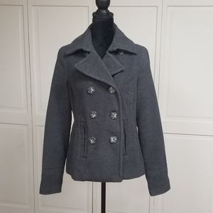 Womens Large gray Pea Coat from Aerropostale